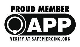 Ozono es miembro de la Asociaión Piercers Profesional
