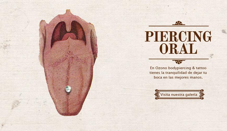 Galería piercing oral